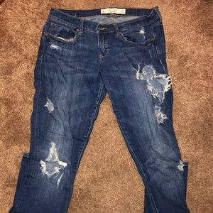 Ripped Abercrombie jeans size 6L